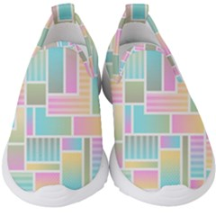Color Blocks Abstract Background Kids  Slip On Sneakers by HermanTelo