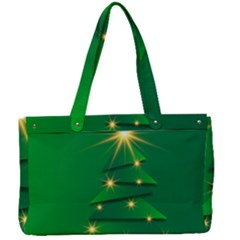 Christmas Tree Green Canvas Work Bag by HermanTelo