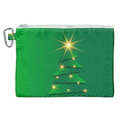 Christmas Tree Green Canvas Cosmetic Bag (xl)
