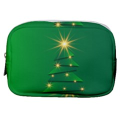 Christmas Tree Green Make Up Pouch (small)