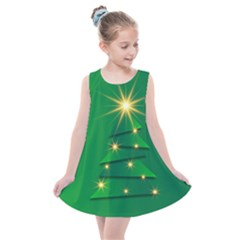 Christmas Tree Green Kids  Summer Dress by HermanTelo