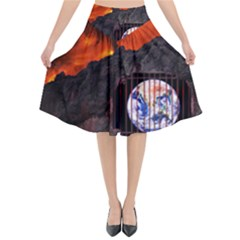 Earth Day Flared Midi Skirt by HermanTelo