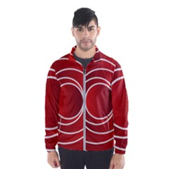 Circles Red Men s Windbreaker