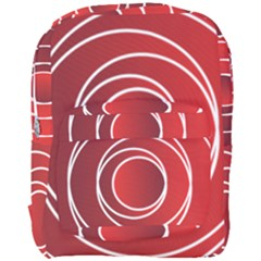 Circles Red Full Print Backpack