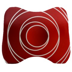 Circles Red Velour Head Support Cushion