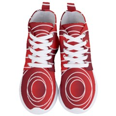 Circles Red Women s Lightweight High Top Sneakers