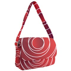 Circles Red Courier Bag