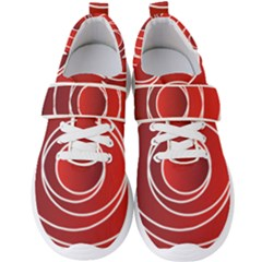 Circles Red Men s Velcro Strap Shoes