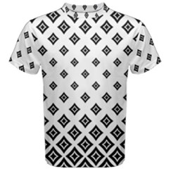 Concentric Plaid Men s Cotton Tee