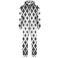 Concentric Plaid Hooded Jumpsuit (men)  by HermanTelo