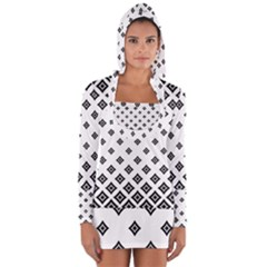 Concentric Plaid Long Sleeve Hooded T Shirt