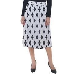Concentric Plaid Classic Velour Midi Skirt