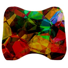 Color Abstract Polygon Velour Head Support Cushion