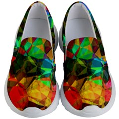 Color Abstract Polygon Kids  Lightweight Slip Ons by HermanTelo