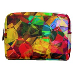 Color Abstract Polygon Make Up Pouch (medium) by HermanTelo