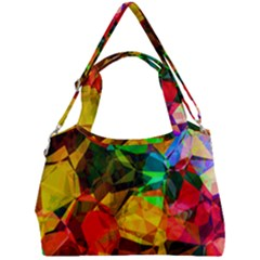 Color Abstract Polygon Double Compartment Shoulder Bag
