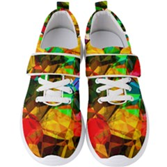 Color Abstract Polygon Men s Velcro Strap Shoes