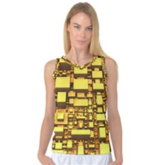 Cubes Grid Geometric 3d Square Women s Basketball Tank Top