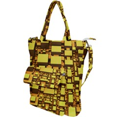 Cubes Grid Geometric 3d Square Shoulder Tote Bag