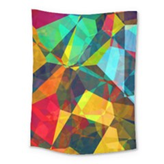 Color Abstract Polygon Background Medium Tapestry by HermanTelo