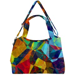 Color Abstract Polygon Background Double Compartment Shoulder Bag by HermanTelo
