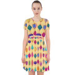 Colorful Background Stones Jewels Adorable In Chiffon Dress