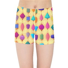 Colorful Background Stones Jewels Kids  Sports Shorts by HermanTelo