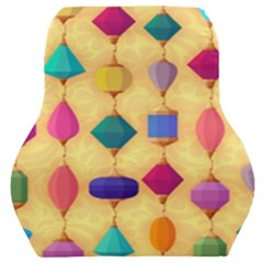 Colorful Background Stones Jewels Car Seat Back Cushion