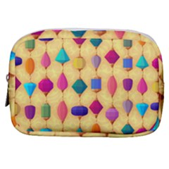 Colorful Background Stones Jewels Make Up Pouch (small)