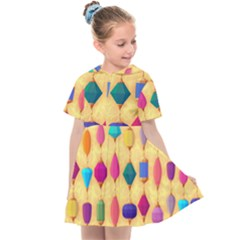 Colorful Background Stones Jewels Kids  Sailor Dress by HermanTelo