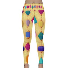 Colorful Background Stones Jewels Lightweight Velour Classic Yoga Leggings
