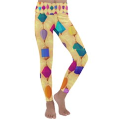 Colorful Background Stones Jewels Kids  Lightweight Velour Classic Yoga Leggings