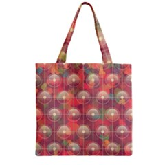 Colorful Background Abstract Zipper Grocery Tote Bag