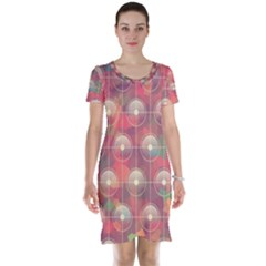 Colorful Background Abstract Short Sleeve Nightdress