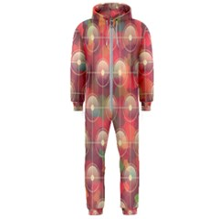 Colorful Background Abstract Hooded Jumpsuit (men)  by HermanTelo