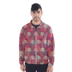 Colorful Background Abstract Men s Windbreaker