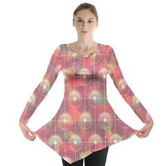 Colorful Background Abstract Long Sleeve Tunic