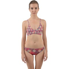 Colorful Background Abstract Wrap Around Bikini Set by HermanTelo