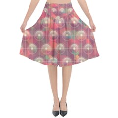 Colorful Background Abstract Flared Midi Skirt by HermanTelo