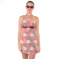 Colorful Background Abstract One Soulder Bodycon Dress