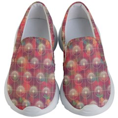 Colorful Background Abstract Kids  Lightweight Slip Ons by HermanTelo