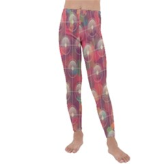 Colorful Background Abstract Kids  Lightweight Velour Leggings by HermanTelo