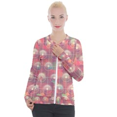 Colorful Background Abstract Casual Zip Up Jacket