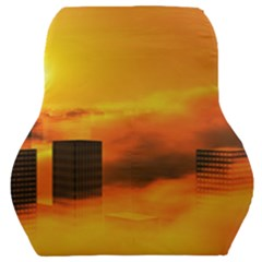 City Sun Clouds Smog Sky Yellow Car Seat Back Cushion