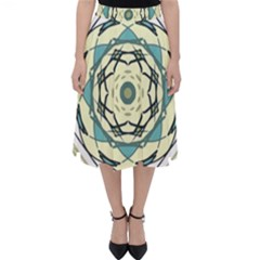 Circle Vector Background Abstract Classic Midi Skirt