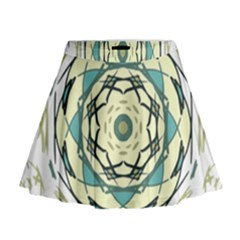 Circle Vector Background Abstract Mini Flare Skirt