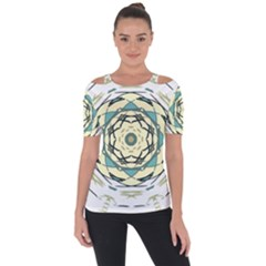 Circle Vector Background Abstract Shoulder Cut Out Short Sleeve Top