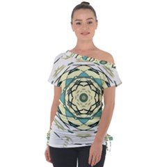 Circle Vector Background Abstract Tie Up Tee by HermanTelo