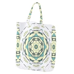 Circle Vector Background Abstract Giant Grocery Tote