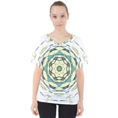Circle Vector Background Abstract V Neck Dolman Drape Top by HermanTelo